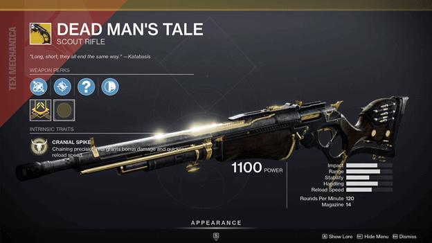 Destiny 2 Deadman's Tale