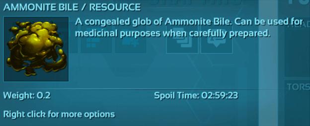 ARK Ammonite Bile