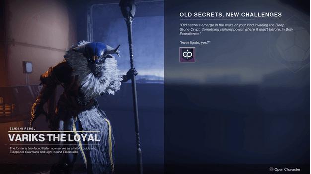 Destiny 2 Old Secrets, New Challenges Quest